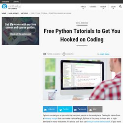 Free Python Tutorials to Get You Hooked on Coding