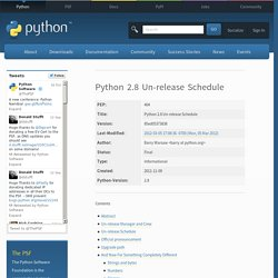 2.8 Un-release Schedule