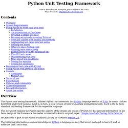 Python Unit Testing Framework