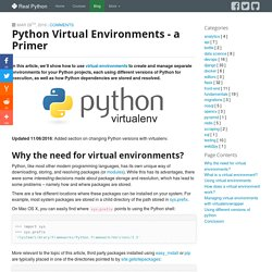 Python Virtual Environments - a primer