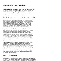 Python Webkit DOM Bindings