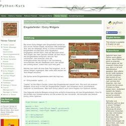 Entry Widgets / Eingabefelder
