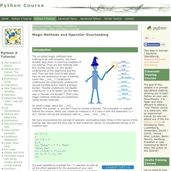 Python3 Tutorial: Magic Methods