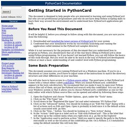 PythonCard Walk-through No. 1