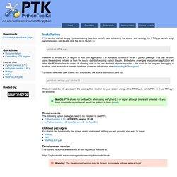 PythonToolkit (PTK)