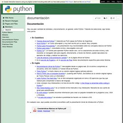 pythonwiki - documentación