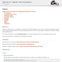 Pythran — Pythran 0.7.6post1 documentation