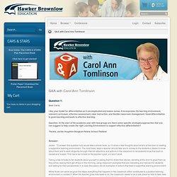Q&A with Carol Ann Tomlinson