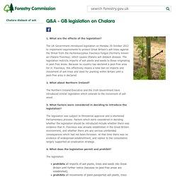 FORESTRY_GOV_UK 11/07/17 FORESTRY COMMISSION - Q&A - GB legislation on Chalara