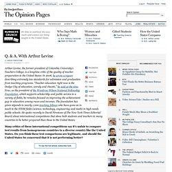 Q. & A. With Arthur Levine