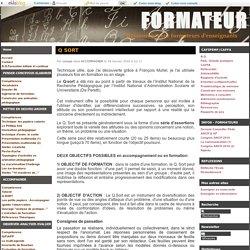 Q SORT - FORMATEUR