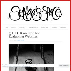 Q.U.I.C.K method for Evaluating Websites