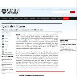 Qaddafi's Spawn