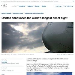 Qantas announces the world's longest direct flight