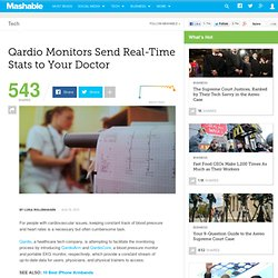 Qardio Monitors Send Real-Time Stats to Your Doctor