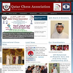 Welcome to The Qatar Chess Association Website