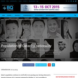 Qatar's population - by nationality