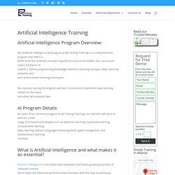 Artificial Intelligence Training Course - Qatestingtrainings