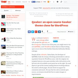 Qawker: an open source Gawker theme clone for WordPress