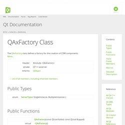 QAxFactory Class