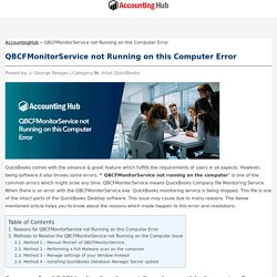 QBCFMonitorService not Running on this Computer Error - AccountingHub