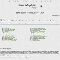 Qcad : dessin technique sous Linux