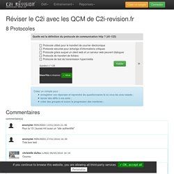 QCM de révision du C2i sur le theme Protocoles