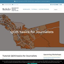 QGIS basics for Journalists