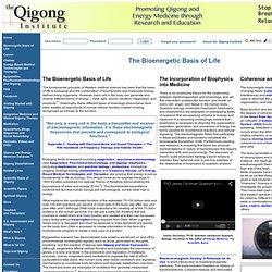Qigong Institute - The Bioenergetic Basis of Life