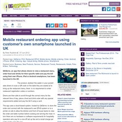QikServe: Mobile EPoS app using customer's smartphone