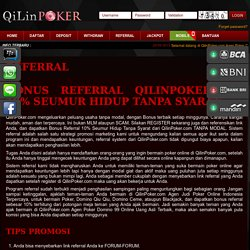 QilinPoker.com Poker Online - Domino Qiu Qiu - Domino 99 - Ceme Online - 21 Blackjack