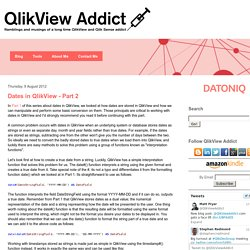 Dates in QlikView - Part 2
