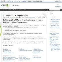 QlikView 11 Developer Tutorial