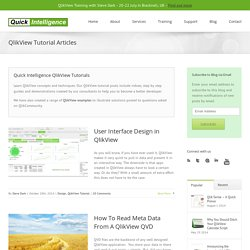 QlikView Tutorial - Learn QlikView