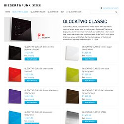 QLOCKTWO - Biegert & Funk