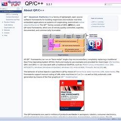 QP/C++: About QP/C++