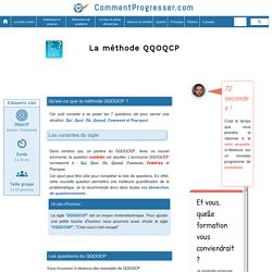 Le QQOQCP - Qui, Quoi, Où, Qui, Comment, Pourquoi