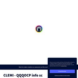 CLEMI - QQQOCP info sc by Alexandra Maurer on Genially