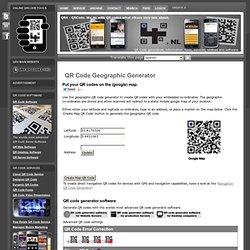 QR Code Geographic Generator