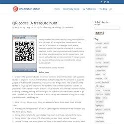 QR codes: A treasure hunt