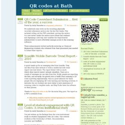 QR codes at Bath