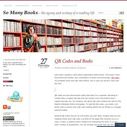 QR Codes and Books