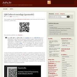 QR Codes et encodage (qrencode)