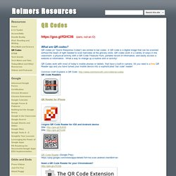 QR Codes - Reimers Resources