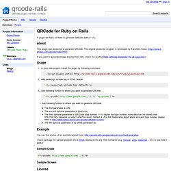 qrcode-rails - Project Hosting on Google Code