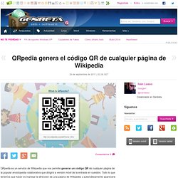 QRpedia genera el código QR de cualquier página de Wikipedia