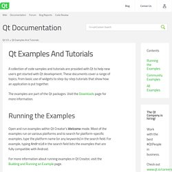 Qt Examples And Tutorials
