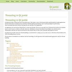 Qt Jambi — Threading in Qt Jambi
