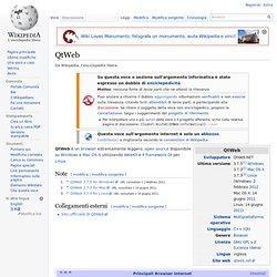 QtWeb, wiki ITA
