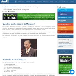 Qu'est-ce que les accords Matignon ?